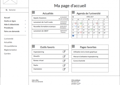 Page d'accueil